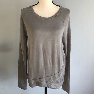 Active Life grey pull over asymmetrical sweater